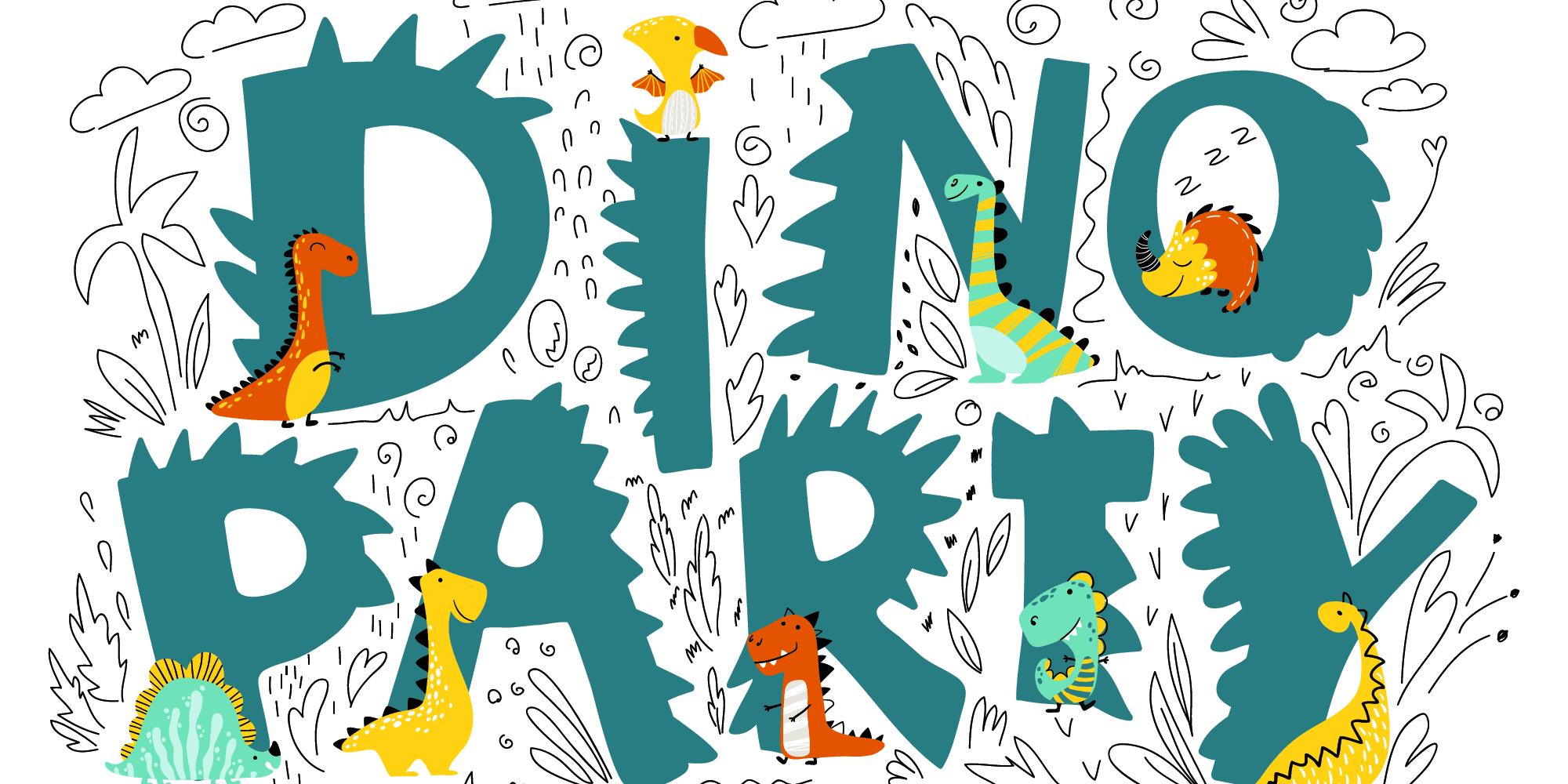 dino party panorama - Dino'party